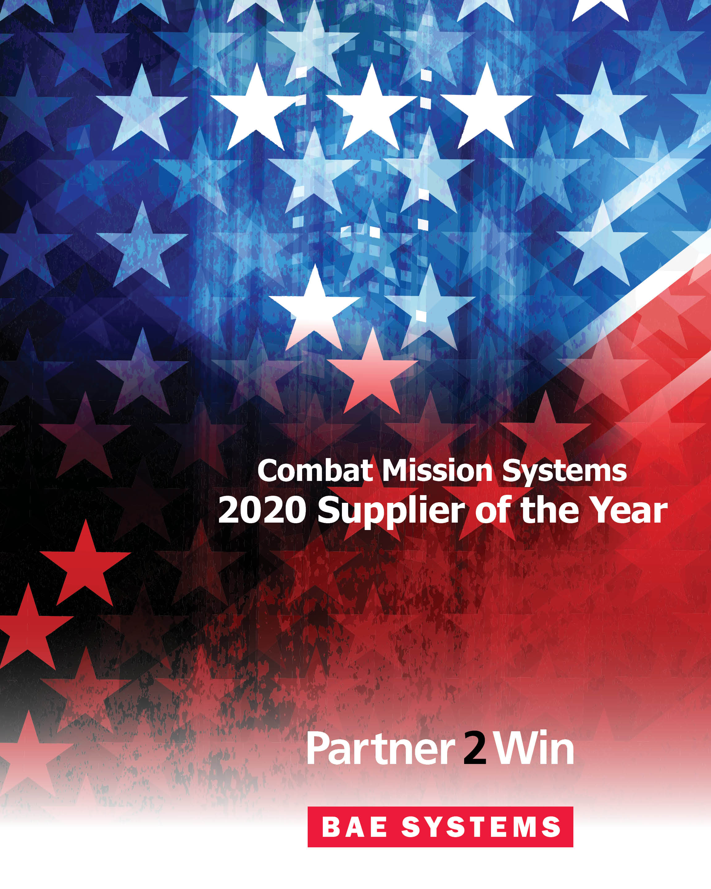 Image for BAE Systems Honors Rhinestahl AMG with a Supplier of the Year Award - baes_banner_2020 Award Winners_32x40_blank